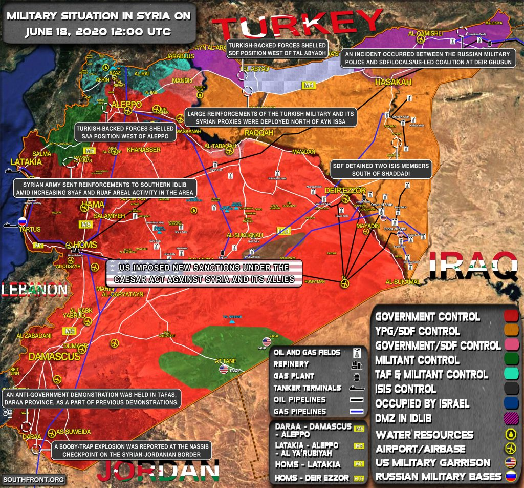 Military Situation In Syria On June 18, 2020 (Map Update)