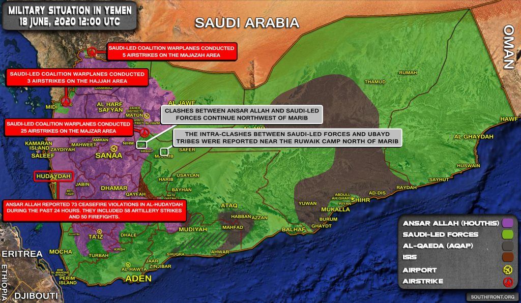 Military Situation In Yemen On June 18, 2020 (Map Update)