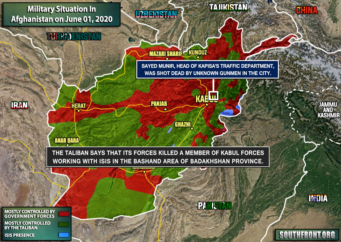 Military Situation In Afghanistan On June 1, 2020 (Map Update)