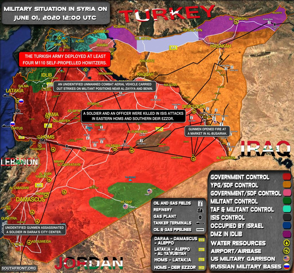 Military Situation In Syria On June 1, 2020 (Map Update)