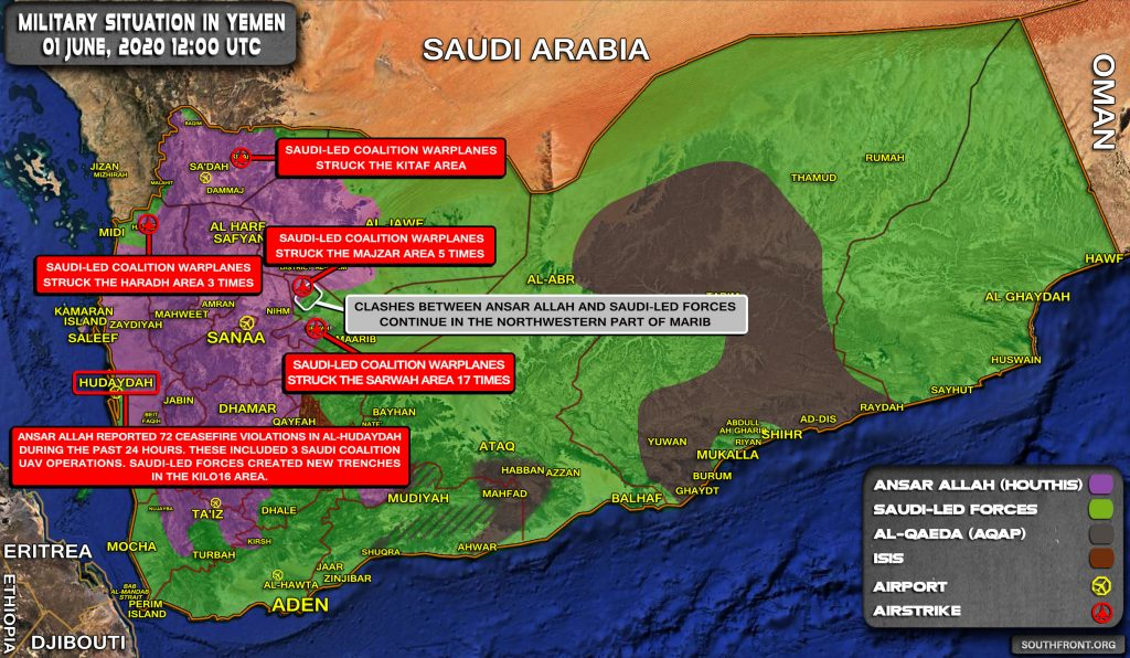 Military Situation In Yemen On June 1, 2020 (Map Update)