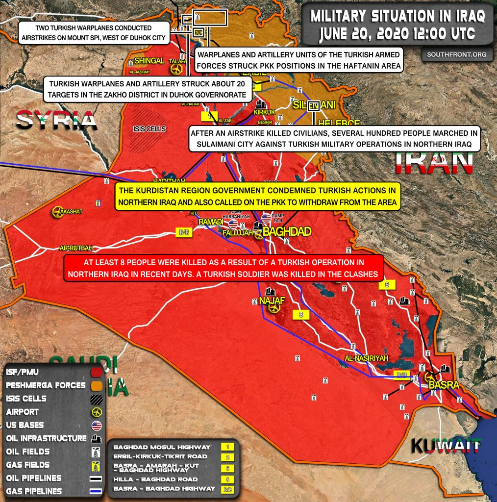 Military Situation In Iraq On June 20, 2020 (Map Update)