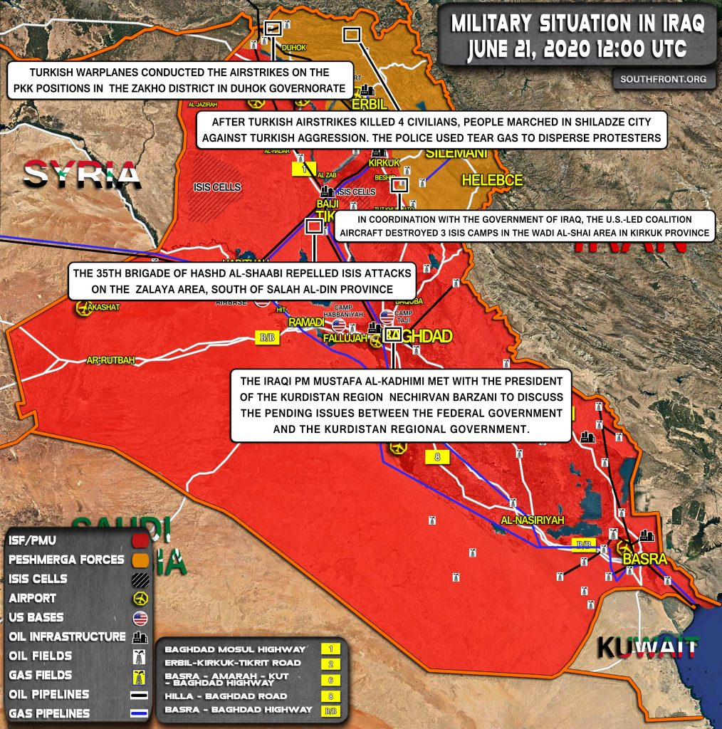 Military Situation In Iraq On June 21, 2020 (Map Update)