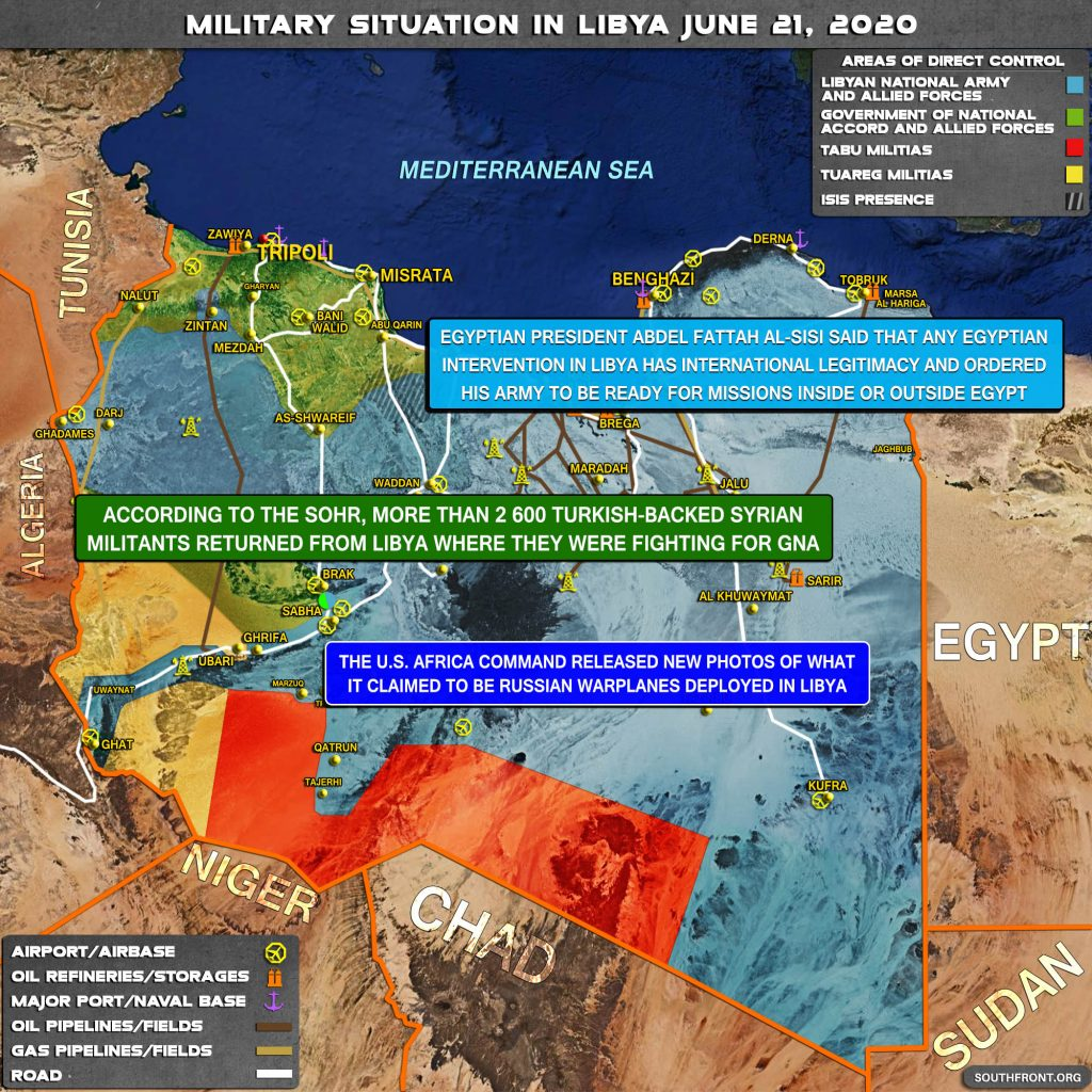 Military Situation In Libya On June 21, 2020 (Map Update)