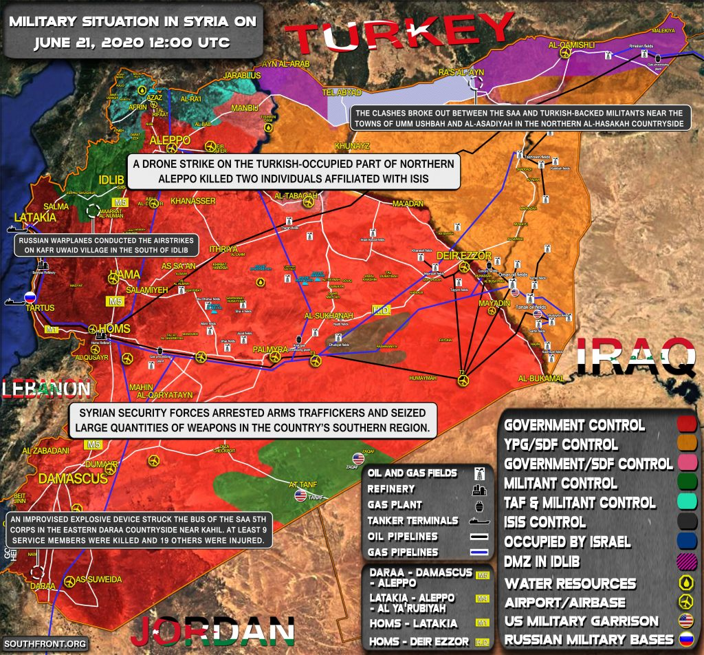 Military Situation In Syria On June 21, 2020 (Map Update)