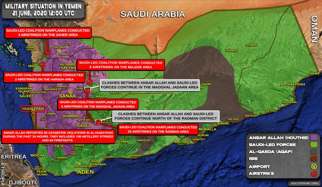 Military Situation In Yemen On June 21, 2020 (Map Update)