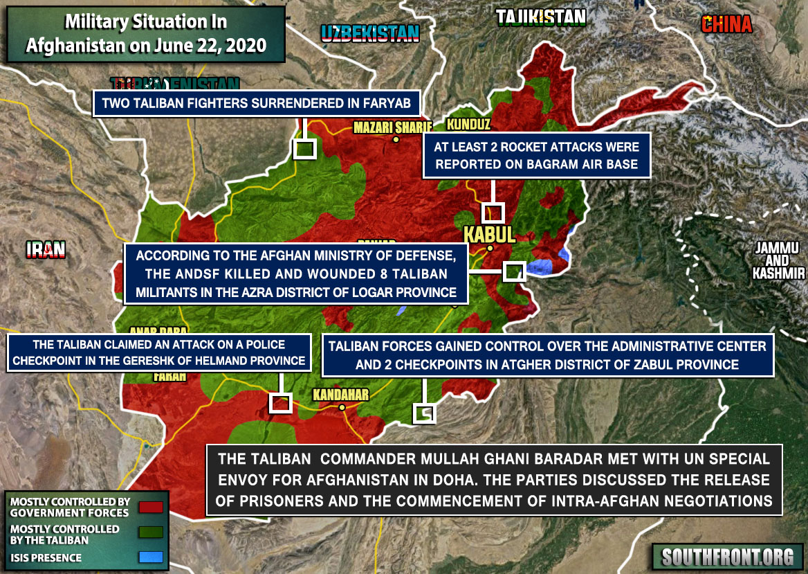 Military Situation In Afghanistan On June 22, 2020 (Map Update)
