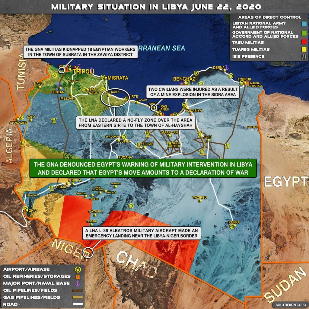 Military Situation In Libya On June 22, 2020 (Map Update)