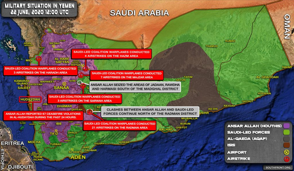 Military Situation In Yemen On June 22, 2020 (Map Update)