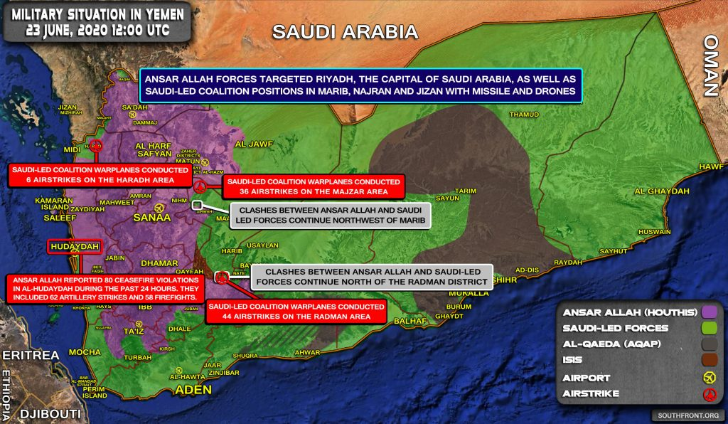 Ansar Allah Launches Massive Drone & Missile Strike On Riyadh, Positions Of Saudi-led Coalition