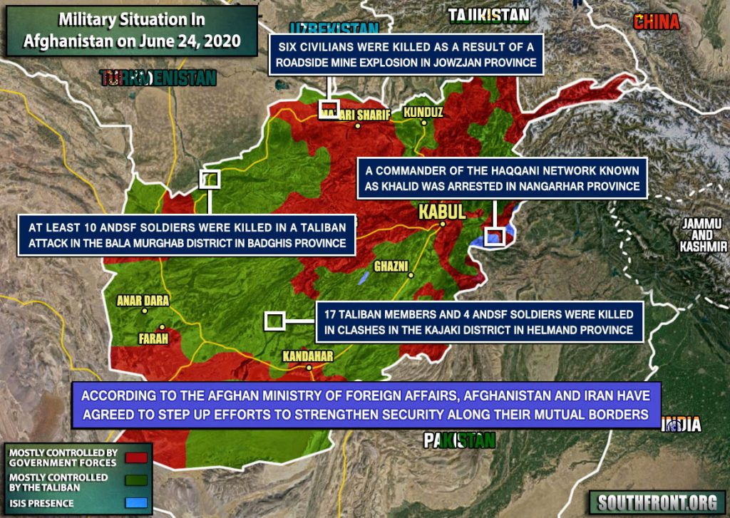 Military Situation In Afghanistan On June 24, 2020 (Map Update)