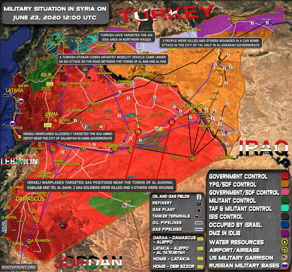 Military Situation In Syria On June 24, 2020 (Map Update)
