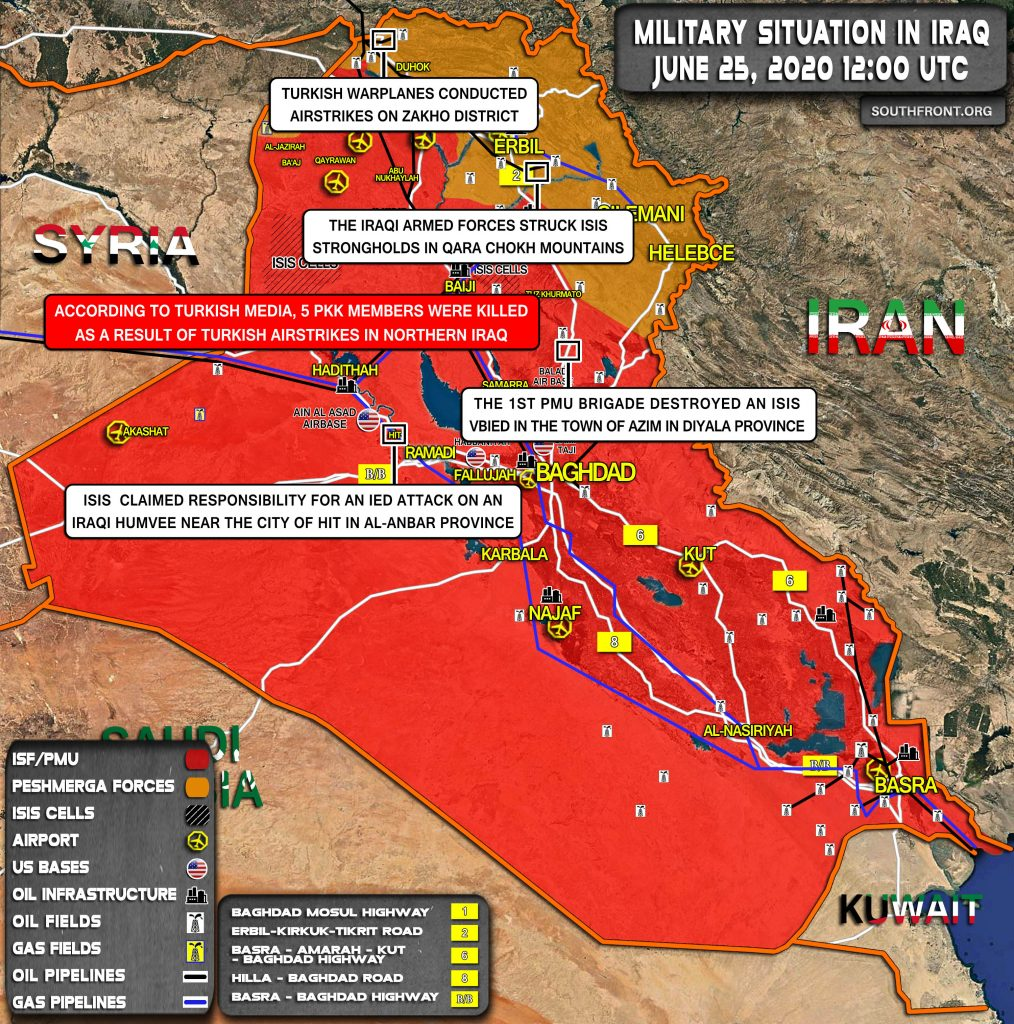 Military Situation In Iraq On June 25, 2020 (Map Update)