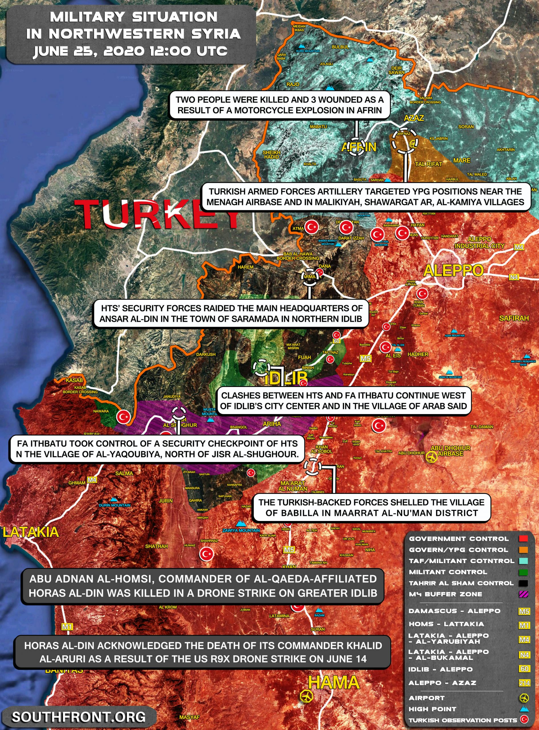 Militant Infighting In Idlib And Kurdish-Turkish Tensions In Afrin (Map Update)