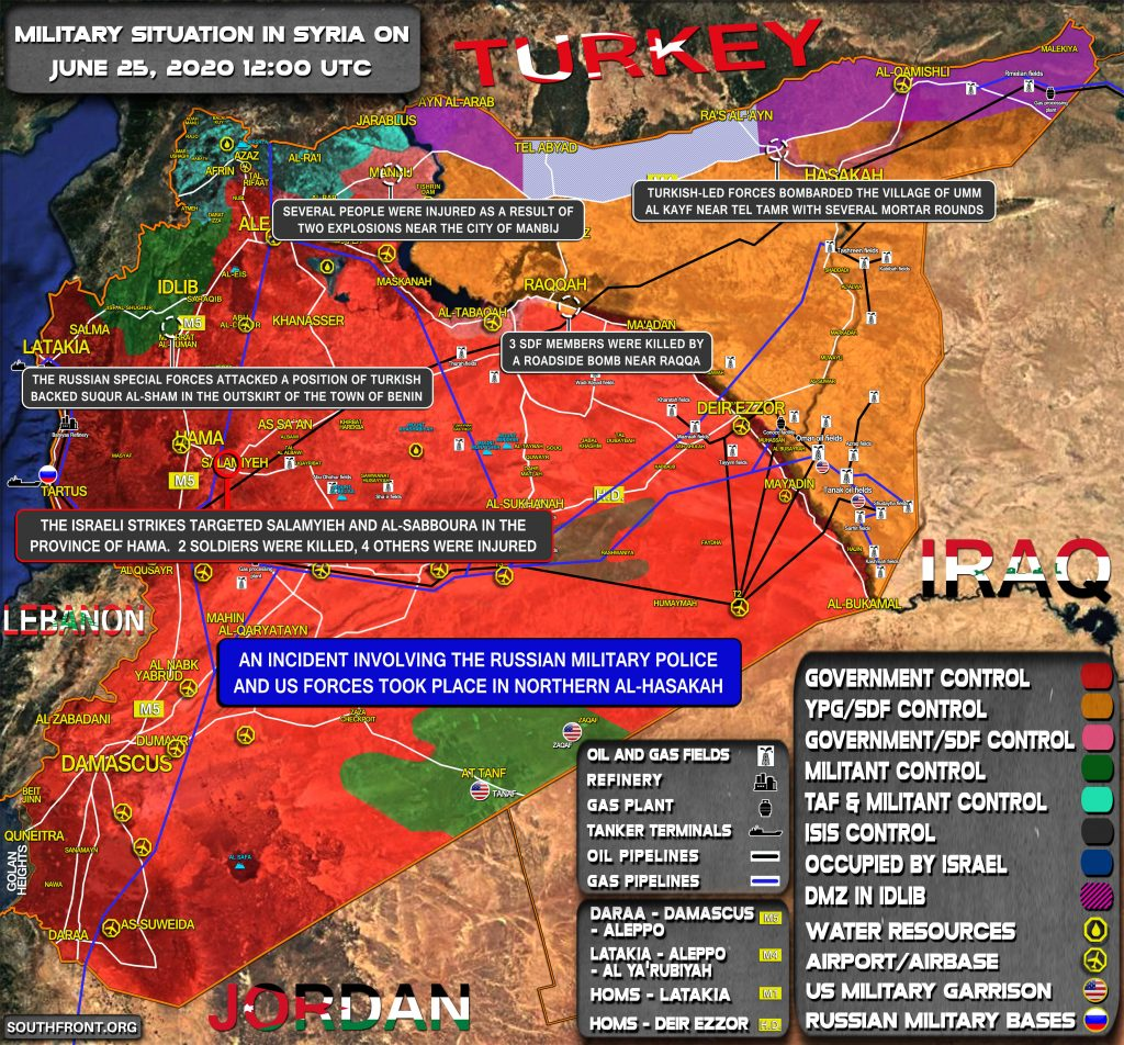 Military Situation In Syria On June 25, 2020 (Map Update)