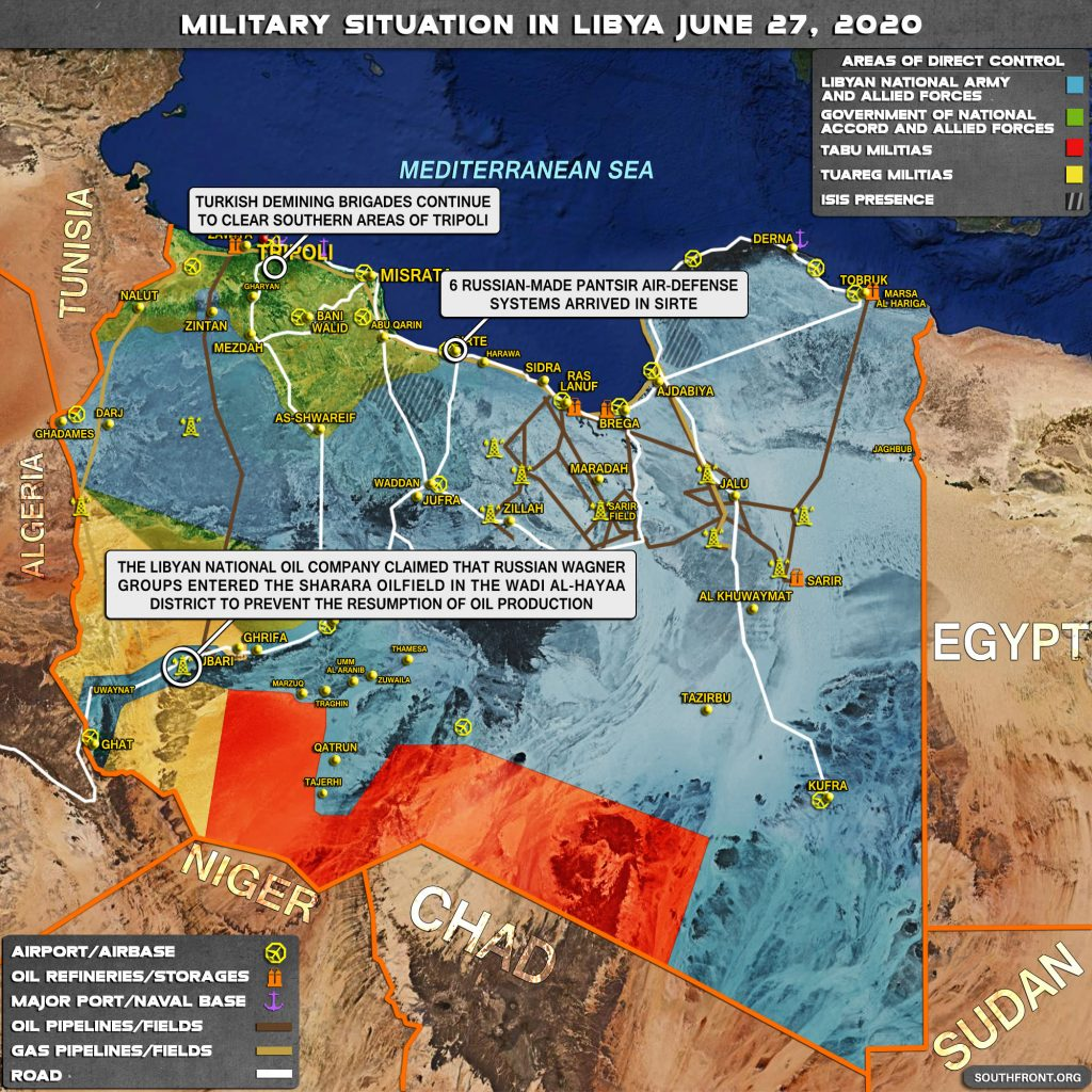 Military Situation In Libya On June 27, 2020 (Map Update)