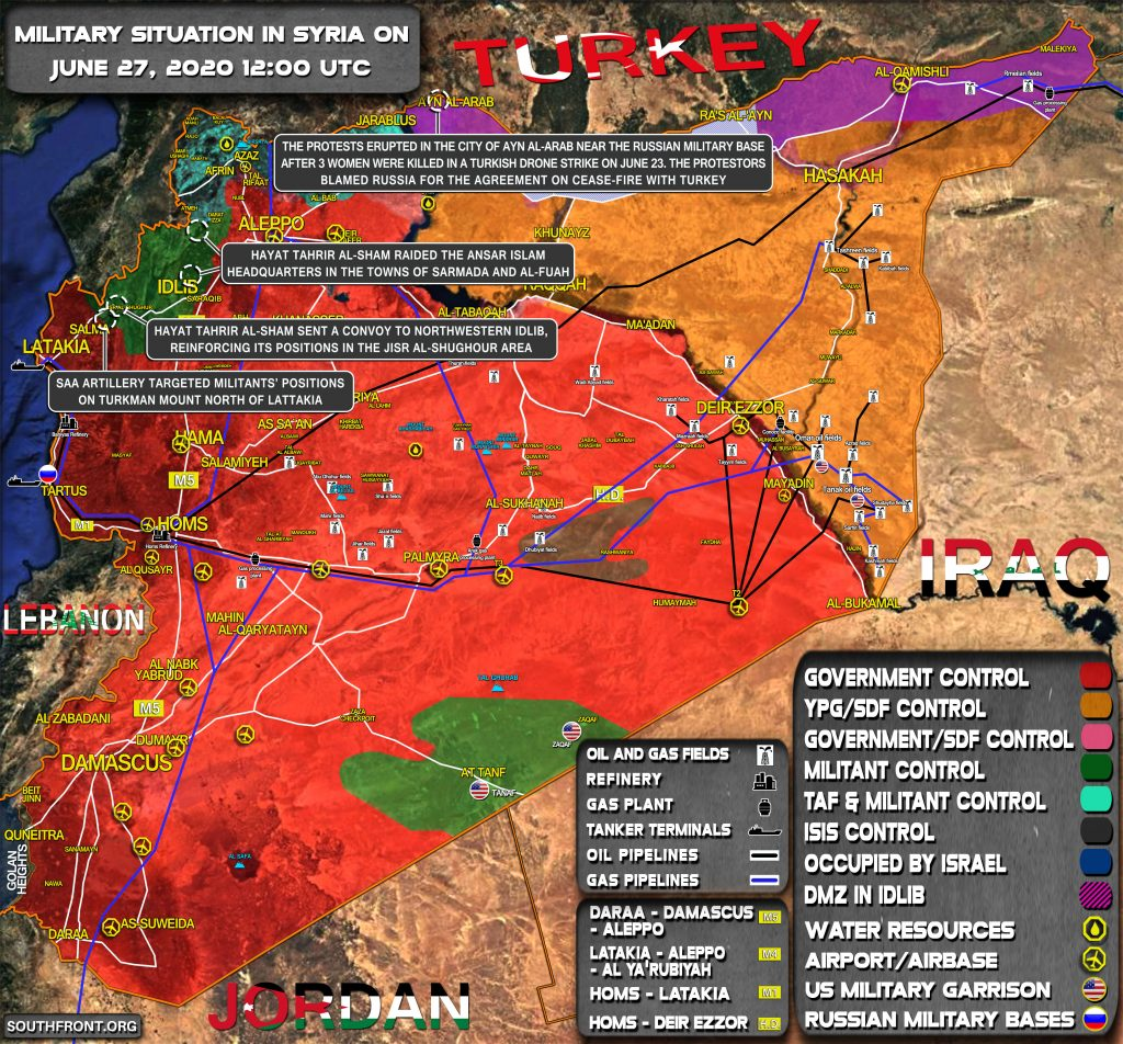 Military Situation In Syria On June 27, 2020 (Map Update)