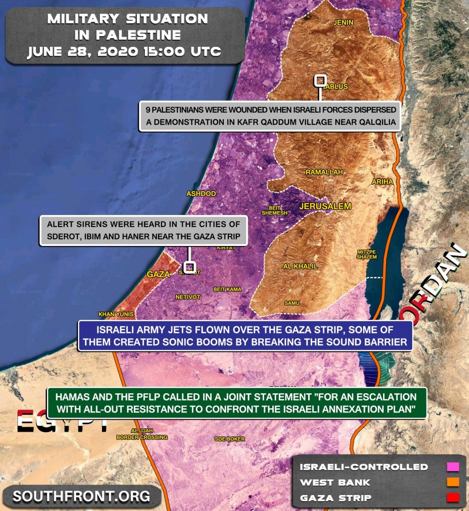 Military Situation In Palestine On June 28, 2020 (Map Update)