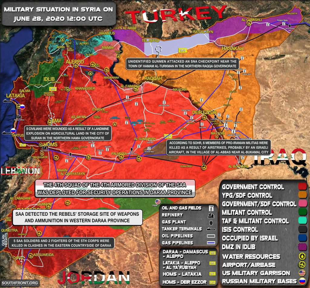 Military Situation In Syria On June 28, 2020 (Map Update)