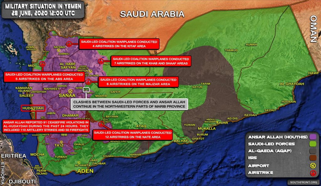 Military Situation In Yemen On June 28, 2020 (Map Update)