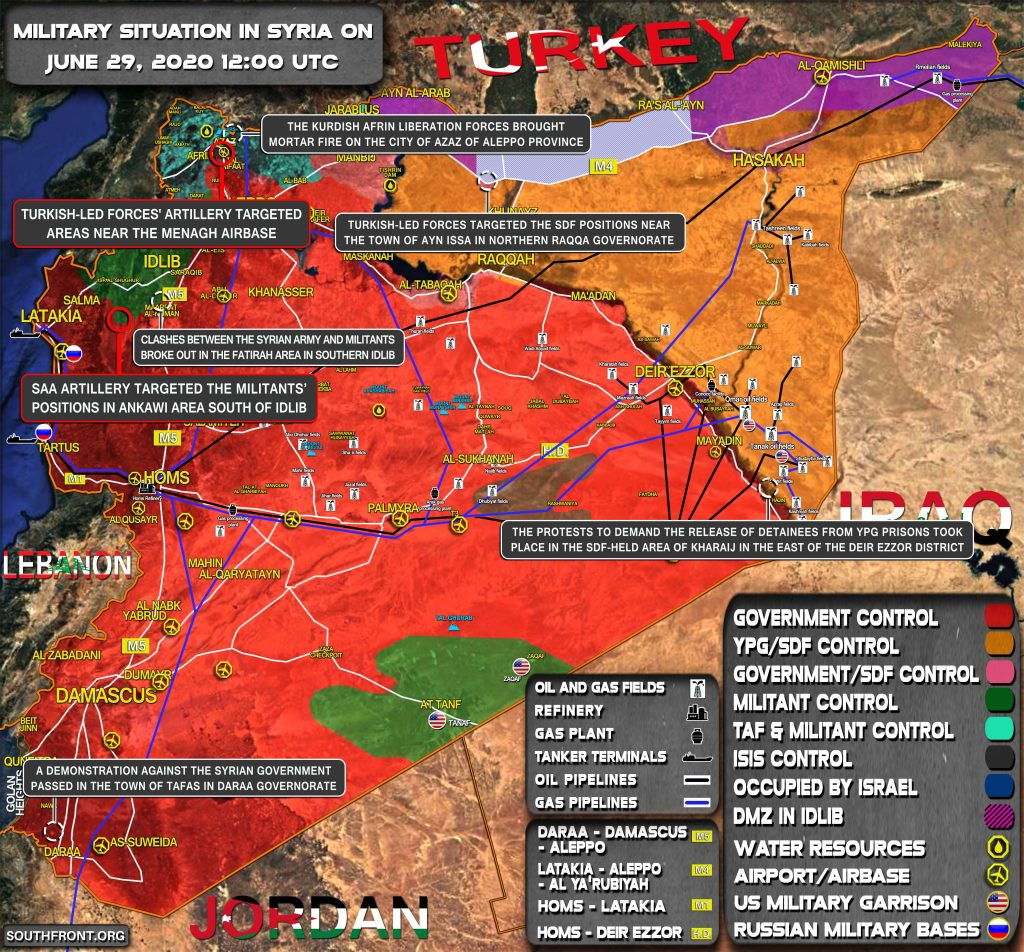 Military Situation In Syria On June 29, 2020 (Map Update)
