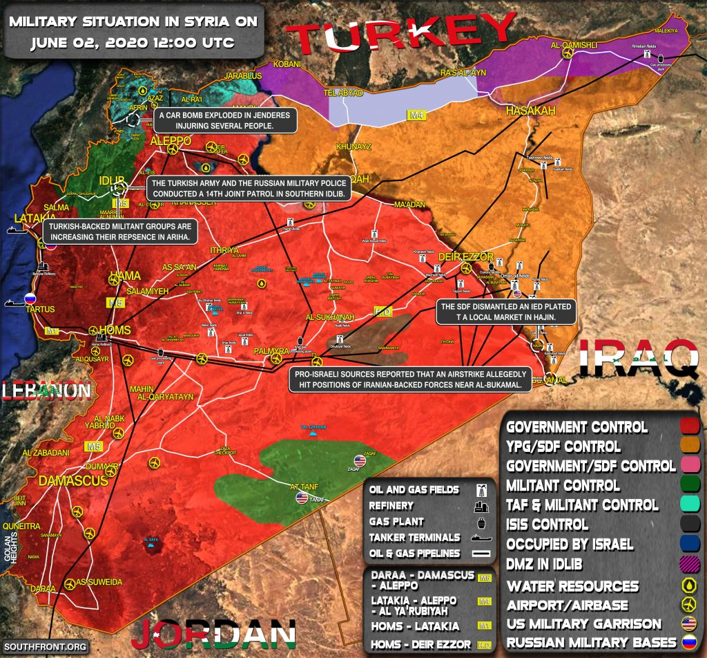 Military Situation In Syria On June 2, 2020 (Map Update)