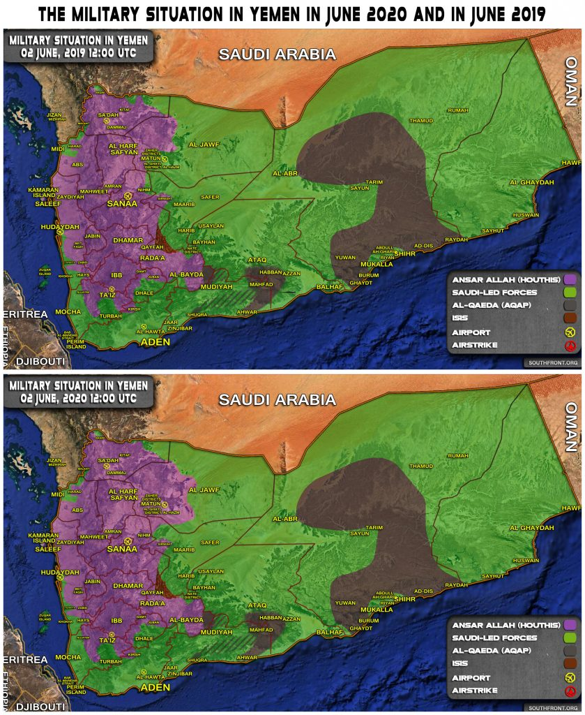Map Comparison: Military Situation In Yemen In June 2019 And June 2020
