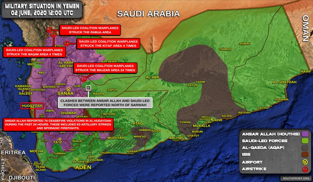 Military Situation In Yemen On June 2, 2020 (Map Update)