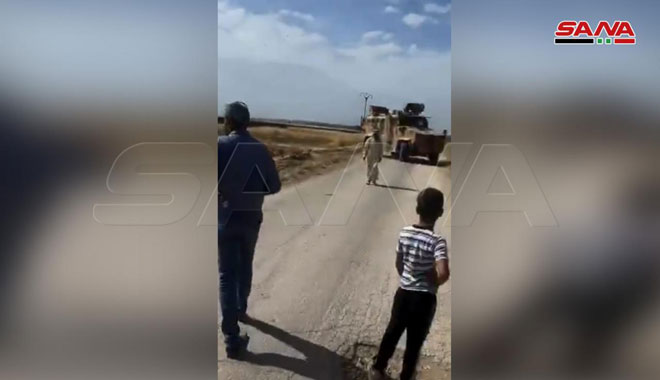 In Photos: Locals Blocked Turkish Military Patrol In Syria's Hasakah Province