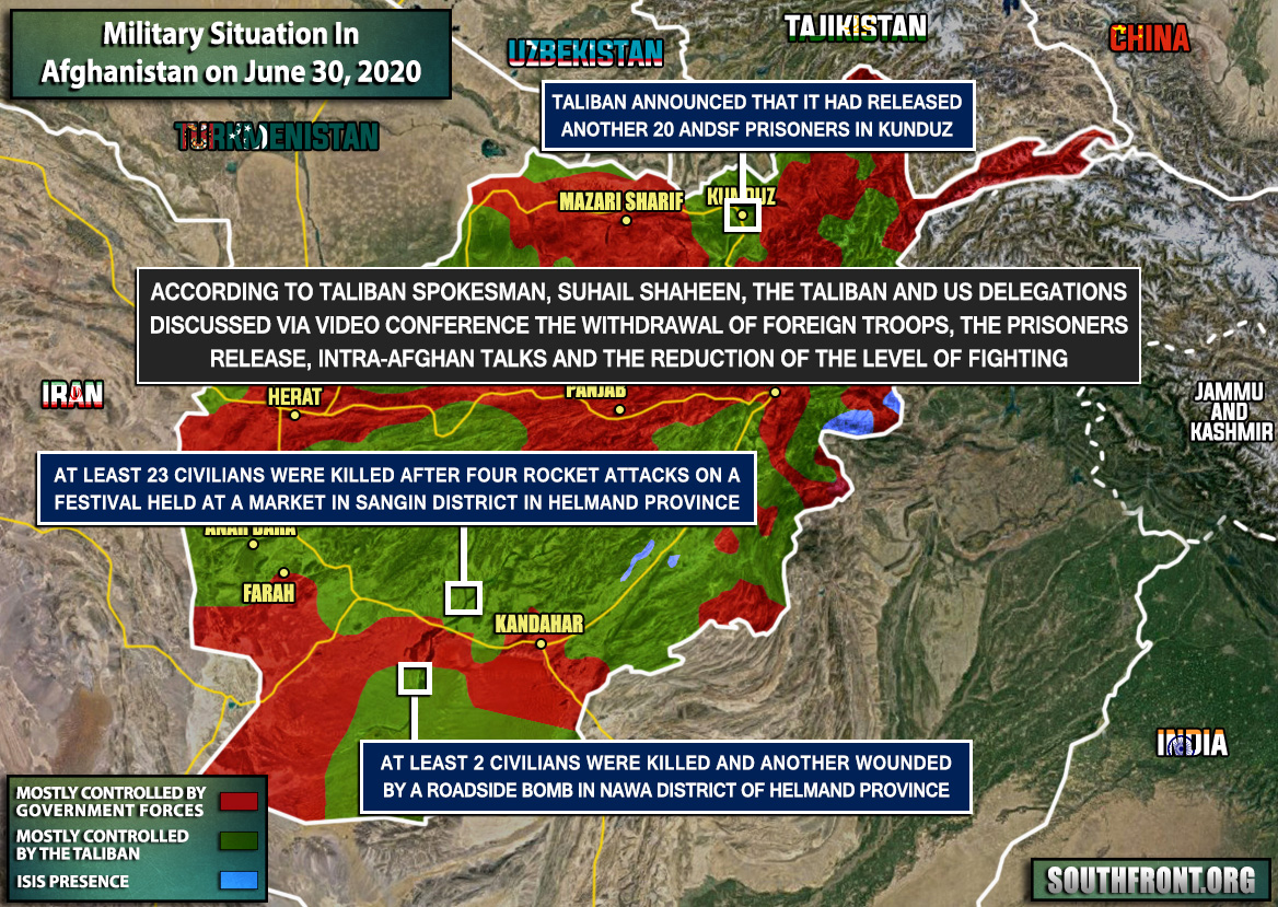 Military Situation In Afghanistan On June 30, 2020 (Map Update)