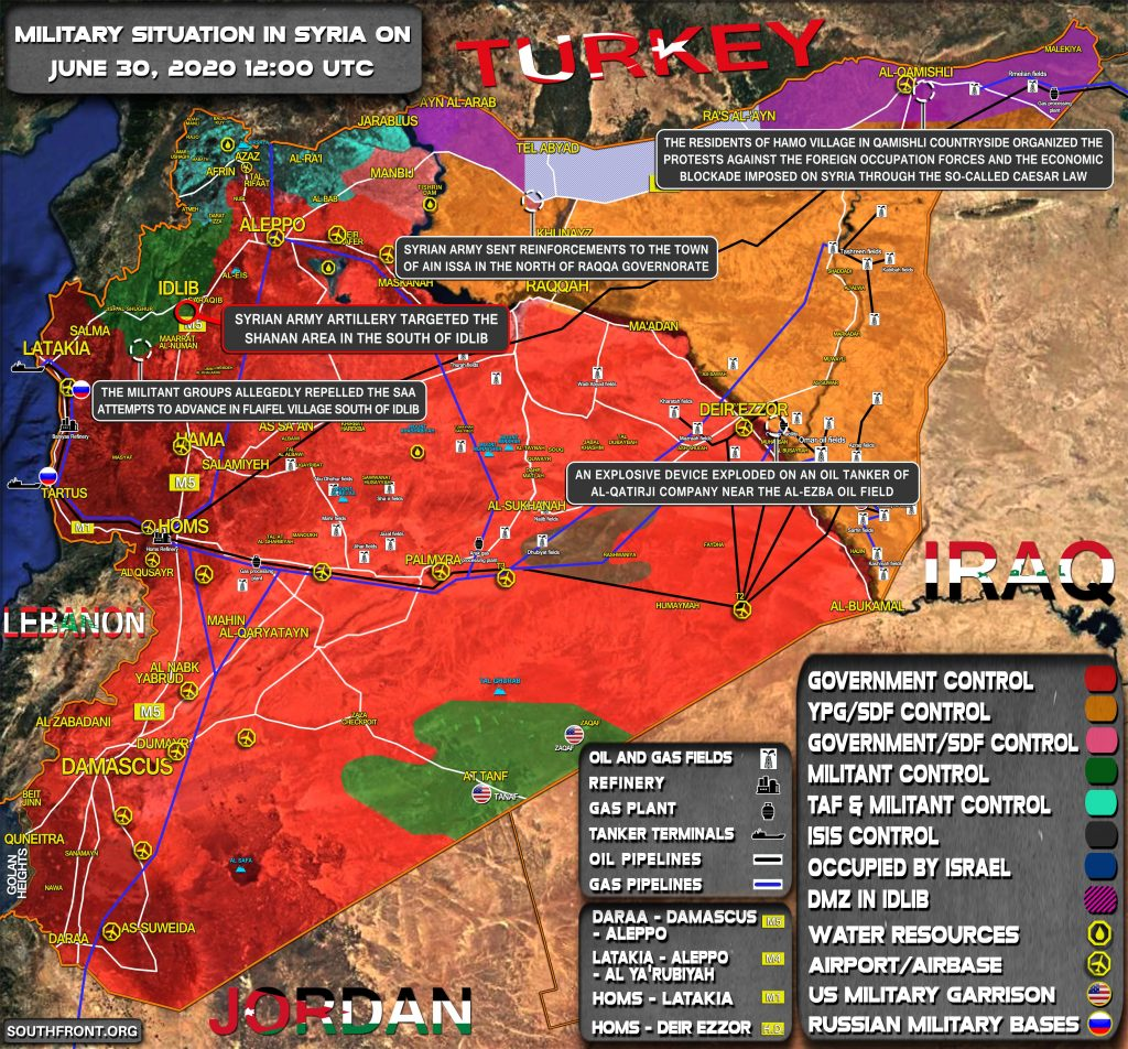 Military Situation In Syria On June 30, 2020 (Map Update)