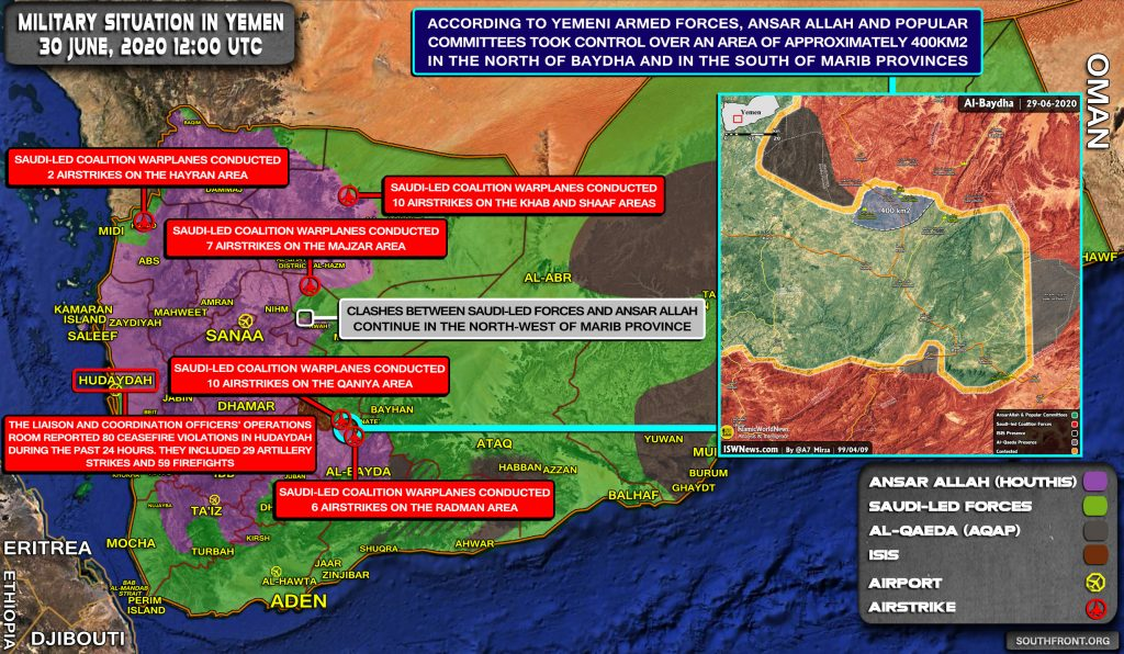 Military Situation In Yemen On June 30, 2020 (Map Update)