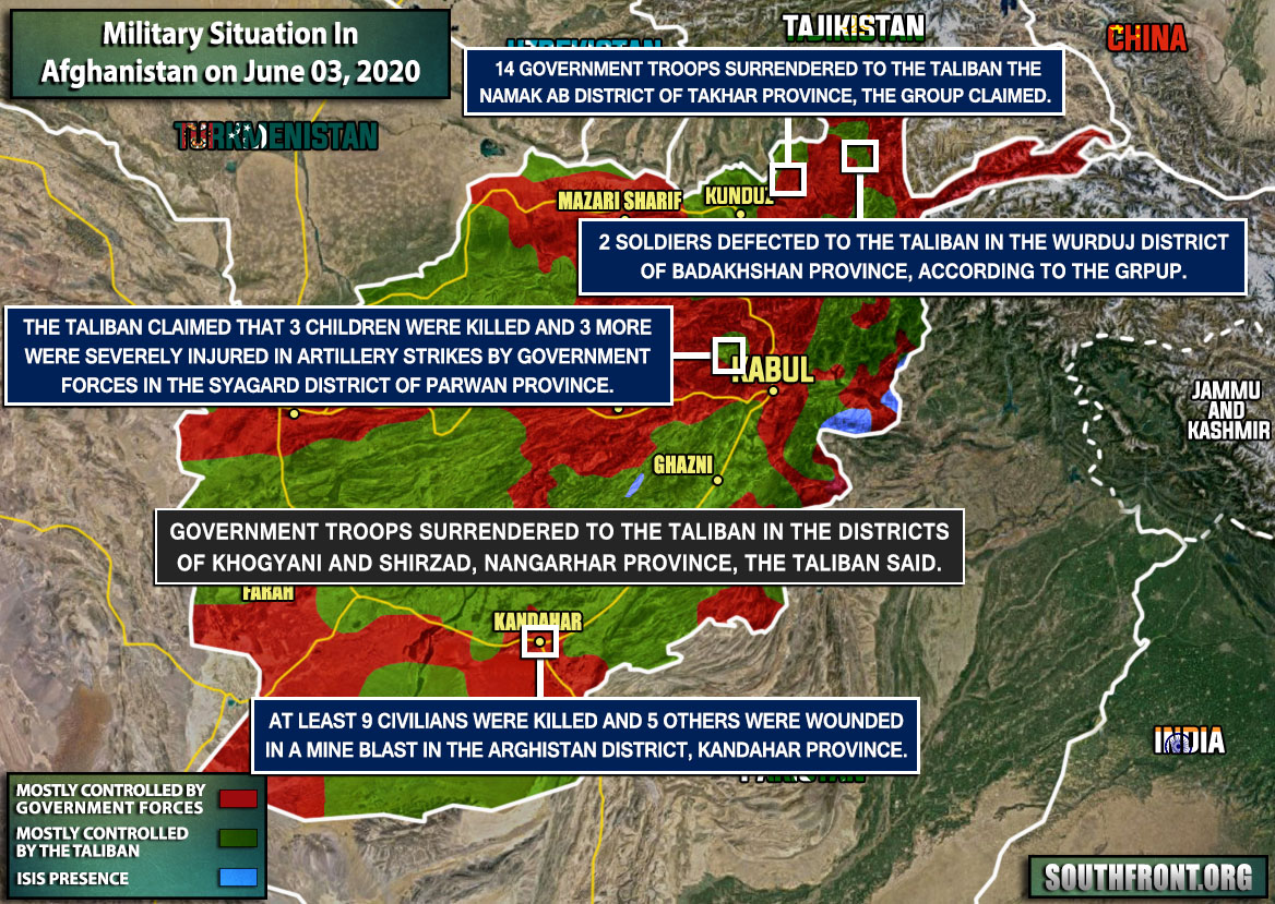 Military Situation In Afghanistan On June 3, 2020 (Map Update)