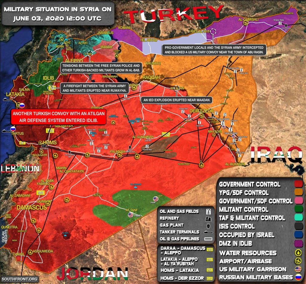 Military Situation In Syria On June 3, 2020 (Map Update)