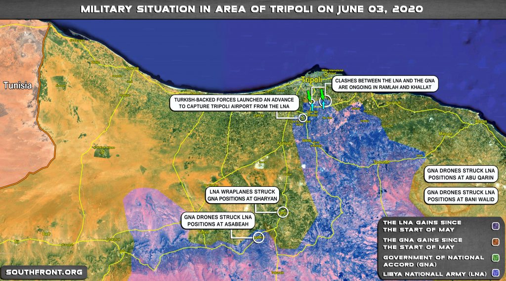 Military Situation In Area Of Libya's Tripoli On June 3, 2020 (Map Update)