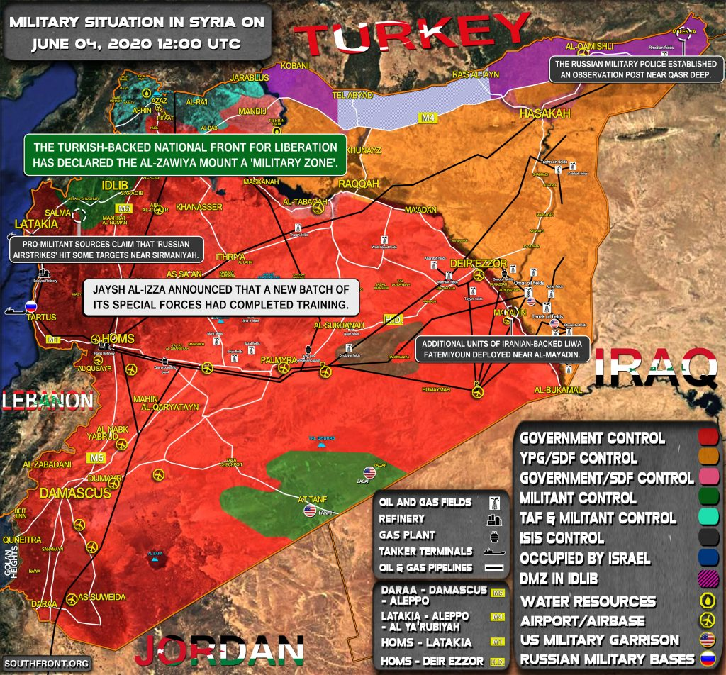 Military Situation In Syria On June 4, 2020 (Map Update)