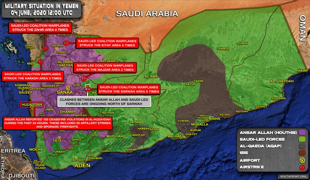 Military Situation In Yemen On June 4, 2020 (Map Update)