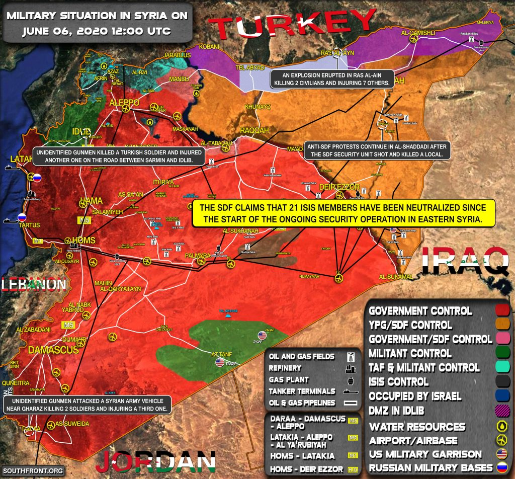 Military Situation In Syria On June 5, 2020 (Map Update)
