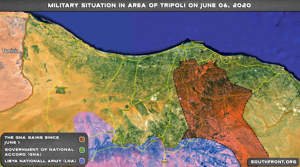 Map Update: Turkish-led Forces' Gains In Battle Against Libyan National Army Since June 1, 2020