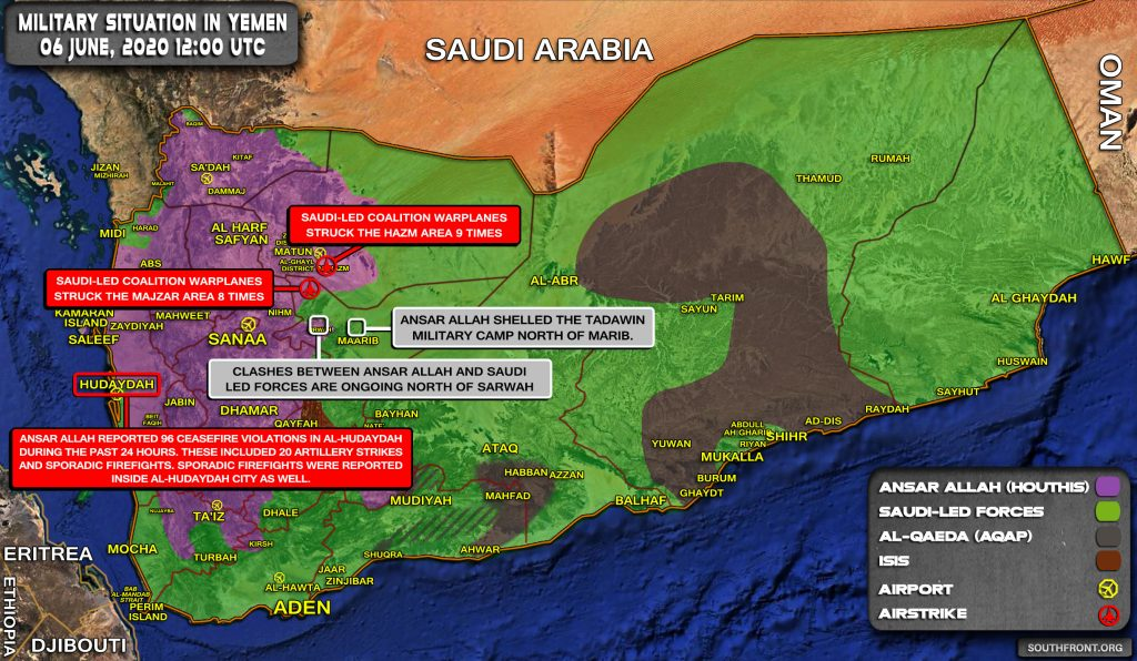 Military Situation In Yemen On June 5, 2020 (Map Update)