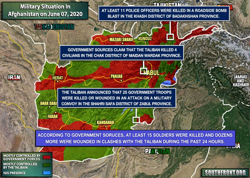 Military Situation In Afghanistan On June 7, 2020 (Map Update)