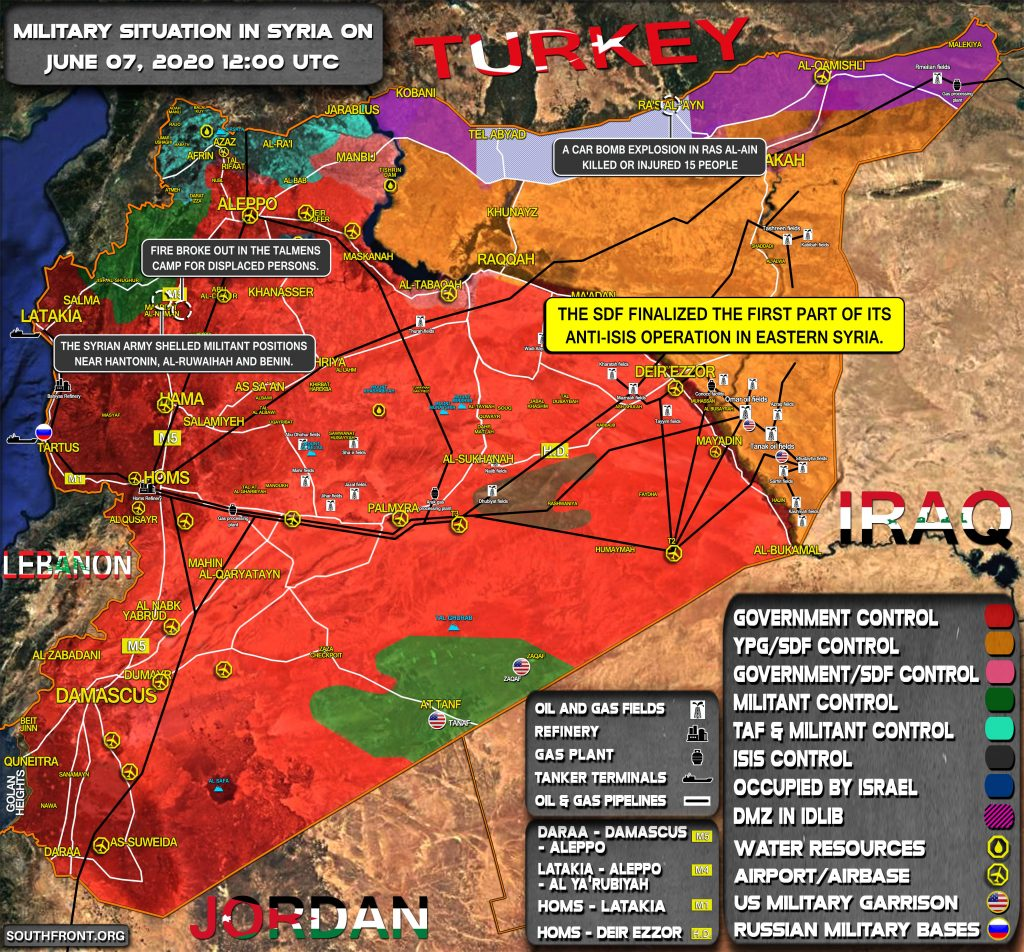 Military Situation In Syria On June 7, 2020 (Map Update)