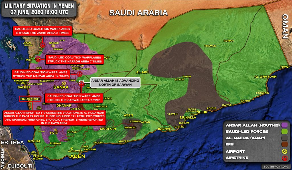 Military Situation In Yemen On June 7, 2020 (Map Update)