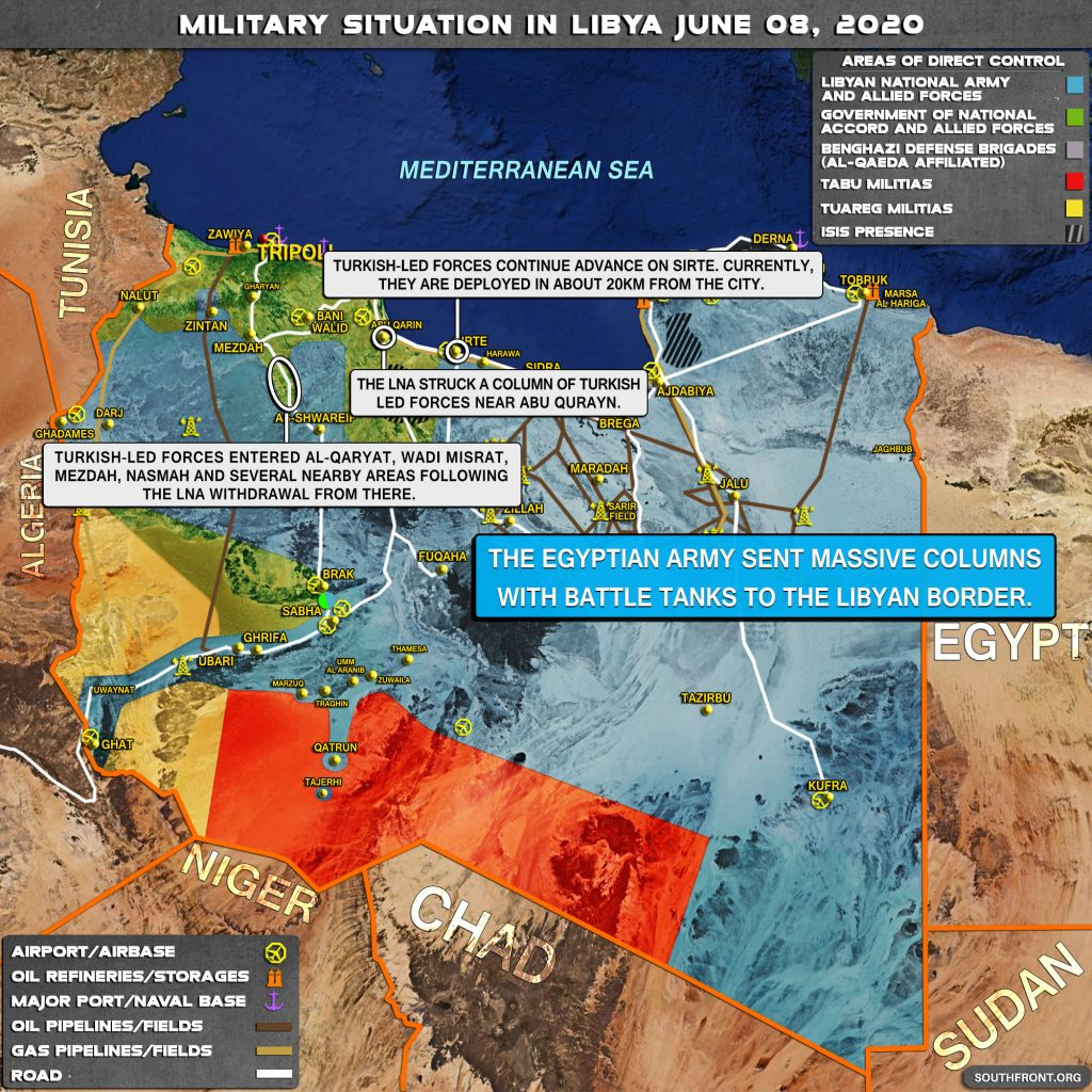 Military Situation In Libya On June 8, 2020 (Map Update)