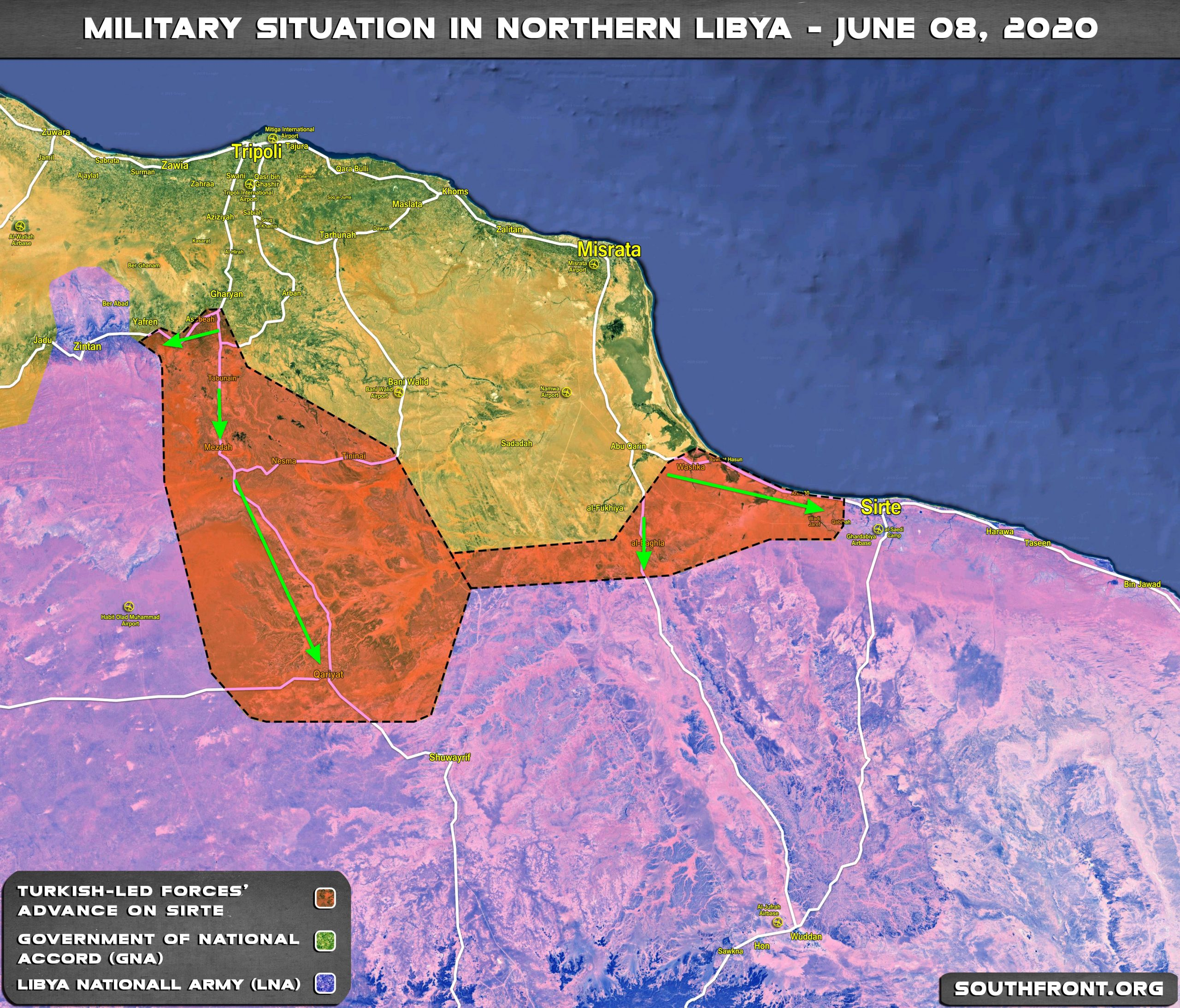Diplomatic Push For Ceasefire, As Turkey And GNA Prepare Push On Sirte