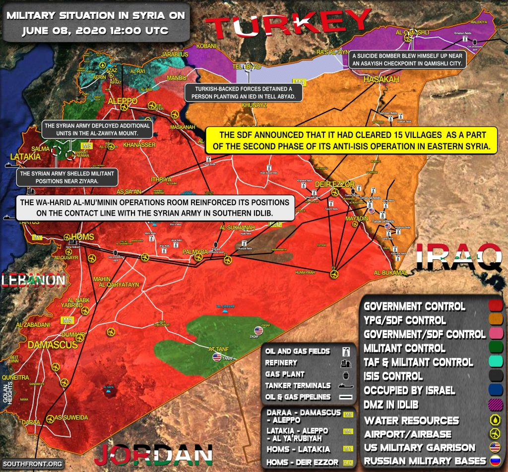 Military Situation In Syria On June 8, 2020 (Map Update)