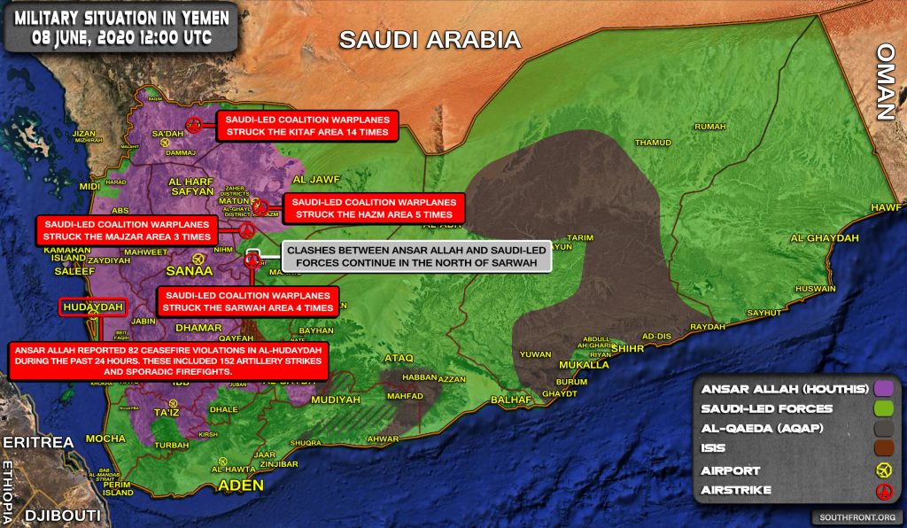 Military Situation In Yemen On June 8, 2020 (Map Update)