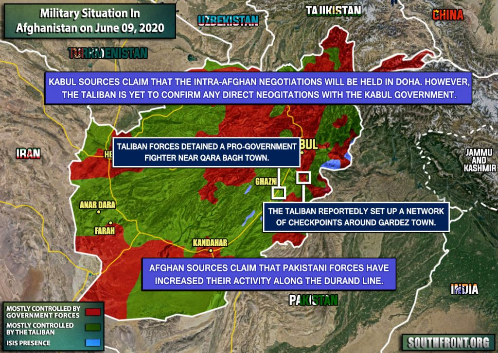 Military Situation In Afghanistan On June 9, 2020 (Map Update)