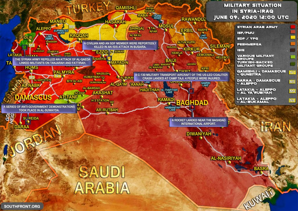 Military Situation In Syria And Iraq On June 9, 2020 (Map Update)