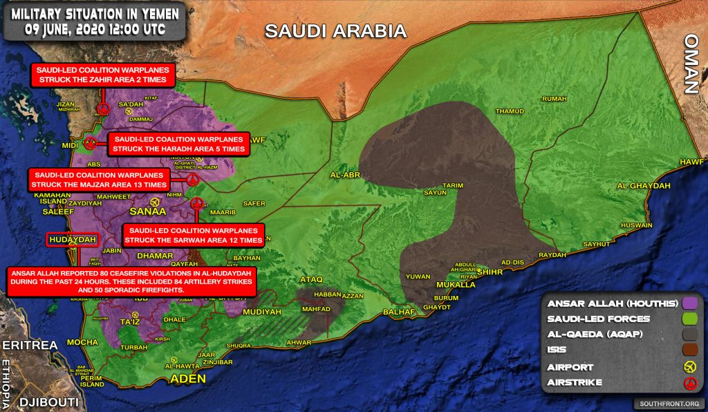 Military Situation In Yemen On June 9, 2020 (Map Update)